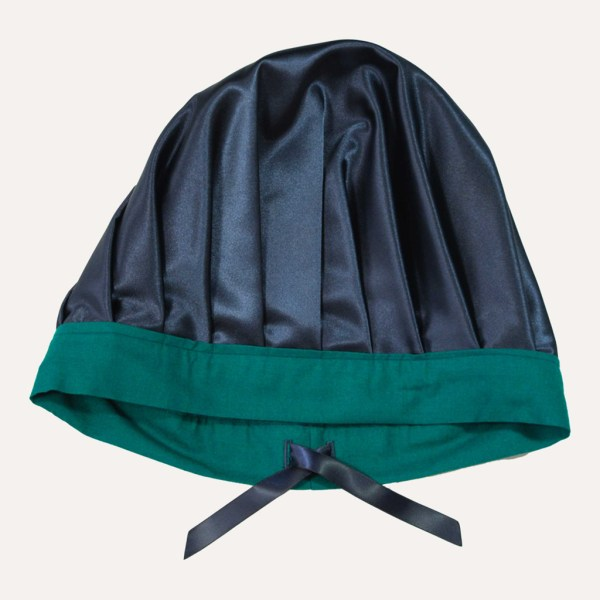 Satin Bonnet réglable vert royal curly nights