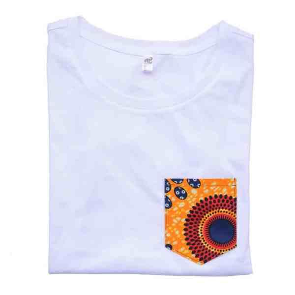 t shirt blanc poche wax crepuscule curly nights