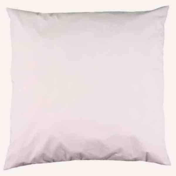 taie d'oreiller double face coton satin unie rose poudré carré