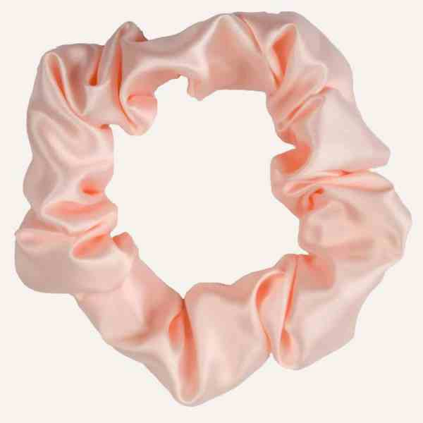Scrunchie satin XXL Lachs curly nights