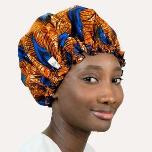 bonnet satin wax nuit élastique curly nights cheveux bouclés crépus PAON D'OR
