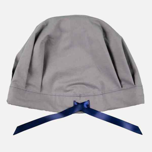 bonnet de nuit satin réglable uni gris curly nights