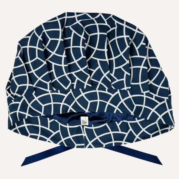 Schlafhaube Bonnet Satin Curly Nights anpassbar BLUE MOSAIC