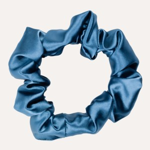 Scrunchie satin XXL Petrolblau curly nights