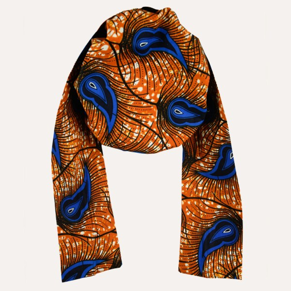 turban en satin foulard curly nights