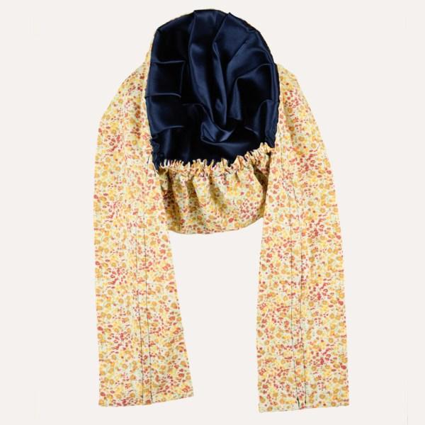 turban satin foulard blumenwiese