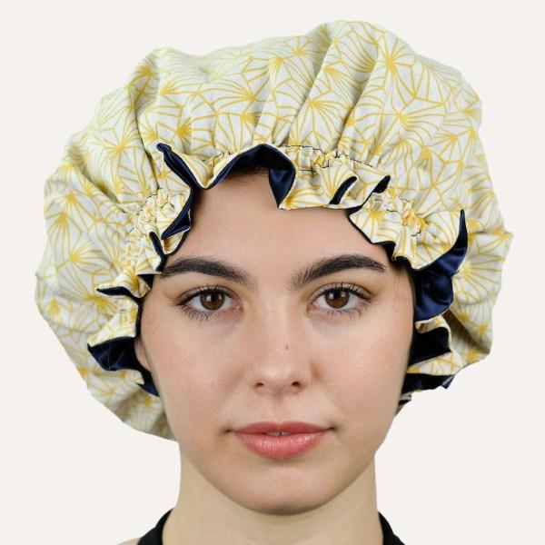 bonnet satin curly nights SUNSHINE pour cheveux bouclés