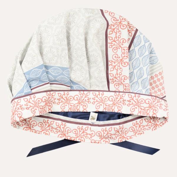Bonnet de nuit réglable satin coton boucles crépus cheveux frisés curly nights terre et mer