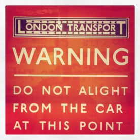 Signs at the London Transport Action Depot.