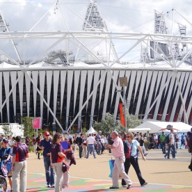 The Olympic stadium in East London.