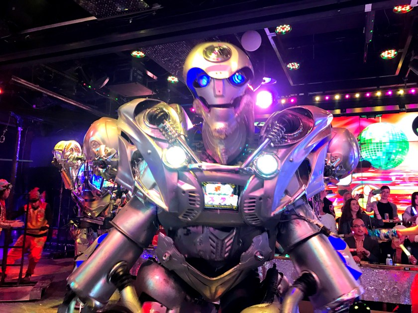 A robot at Robot Restaurant, Shinjuku.