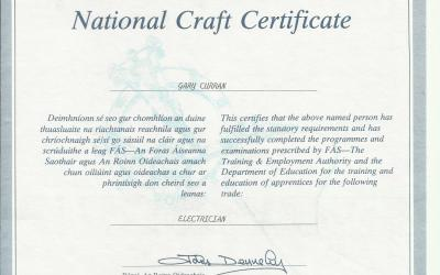 Training and Employment National Trade Certificate – 1997