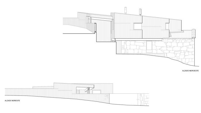 Planos de ampliación de casa en Meira- Moaña