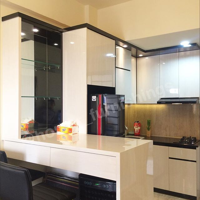 gambar terbaru kitchen set bar