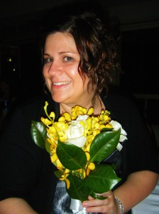 I caught the bouquet!