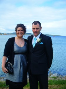 Mick and I at the wedding
