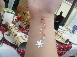 Blinged the scar up at Christmas