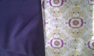 My chosen fabrics for the new bag