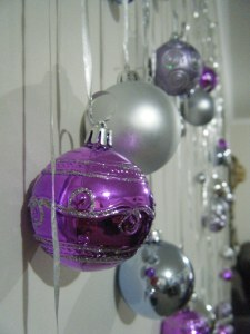 Close up of Xmas balls