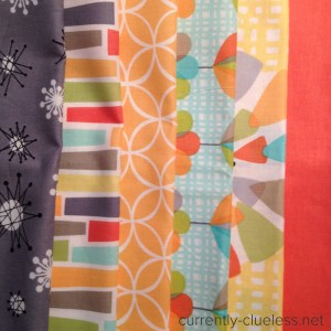 Fabrics supplied for the challenge