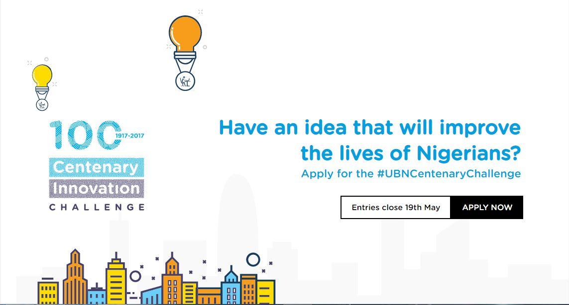 Union Bank Centenary Innovation Challenge 2020 | N4.5 Million Cash Prize.