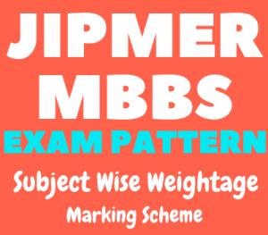 JIPMER 2020 Exam Pattern, Marking Scheme   Confirm Here