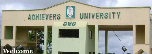 Achievers University Post UTME/DE Form