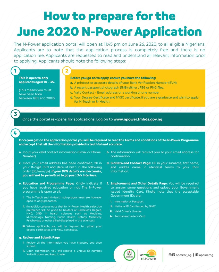 Npower Form 2021 Application Tips