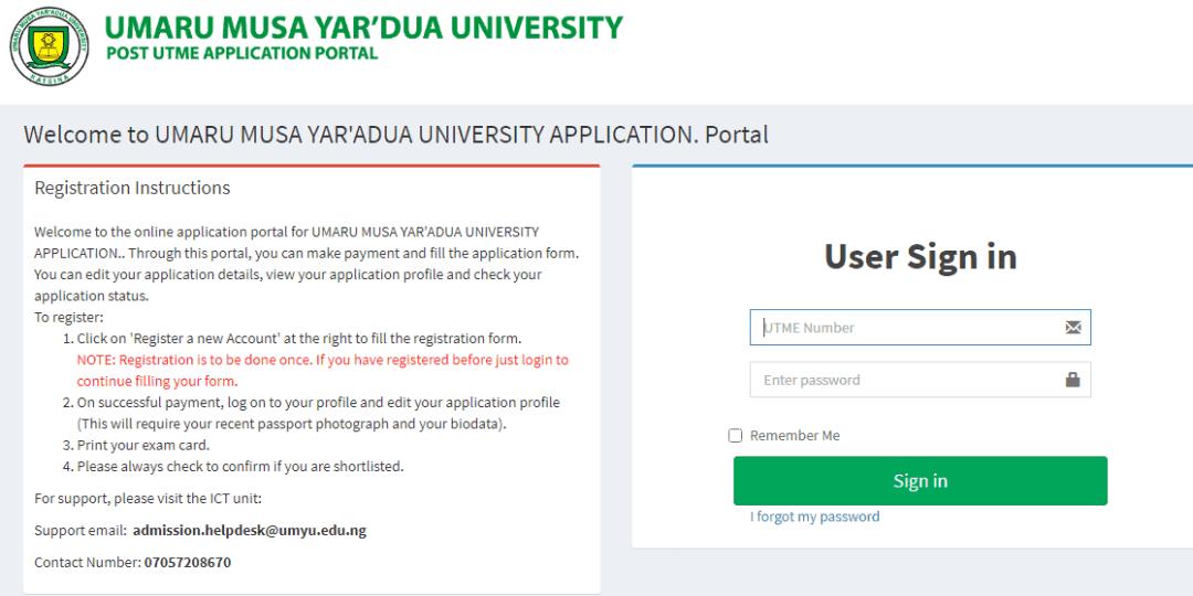 UMYU 2021 Post UTME Admission Screening Result