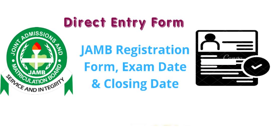JAMB Direct Entry Registration Form 2021