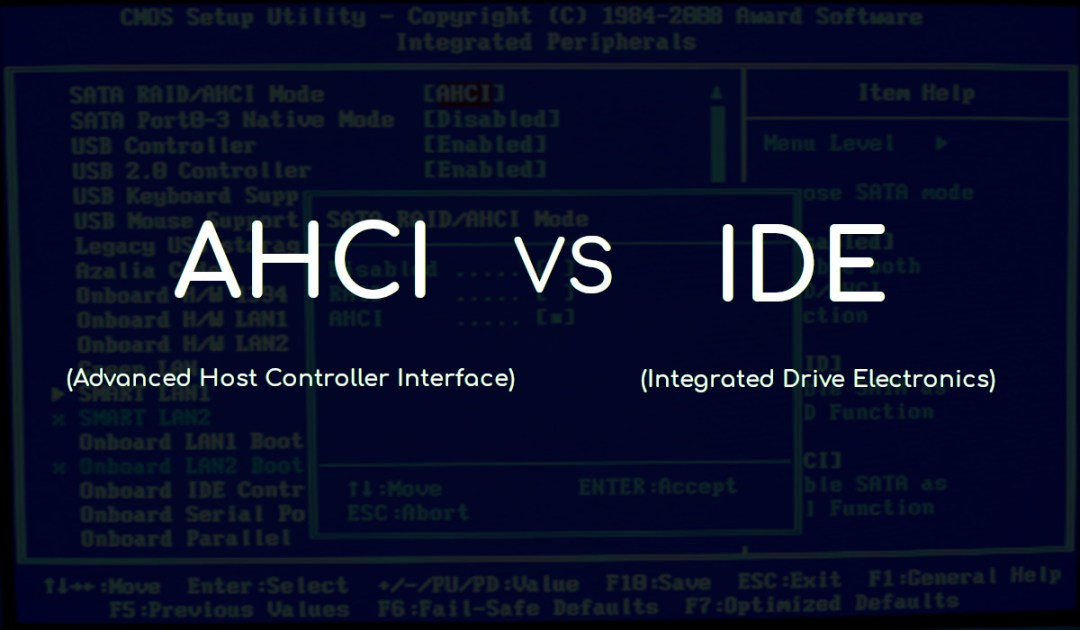 ahci and ide