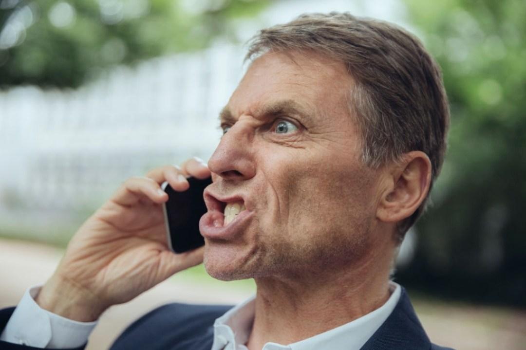 Angry Man on Call