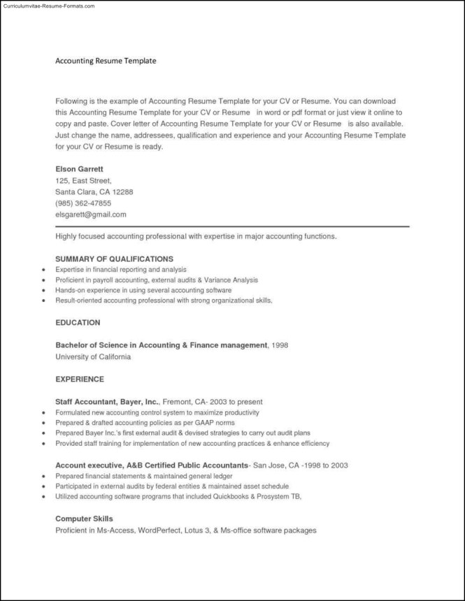 Resume Copy And Paste Template - Resume Sample