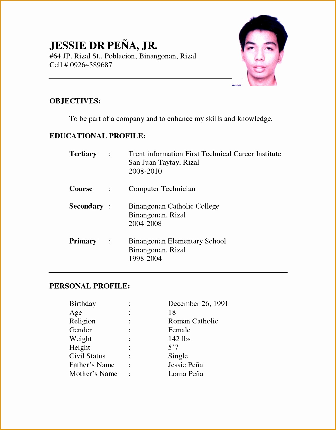 Latest Professional Resume Format | Printable Worksheets and