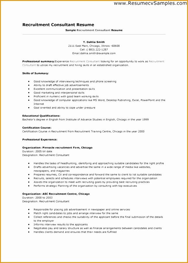 7 Recruitment Consultant Resume Sample Free Samples Examples Amp Format Resume Curruculum Vitae
