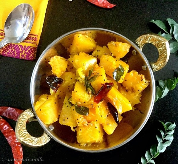 Duddhe upkarisouth indian pumpkin stir fry curry and vanilla pumpkin stir fryduddhe upkari is a simple no onion no garlic south indian style stir fry with chunks of pumpkin in mild aromatic spices like asafetida forumfinder Choice Image