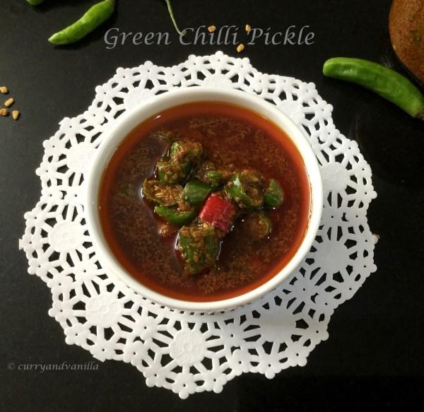 Indian Green Chilli Pickle/Hari Mirch Ka Achaar