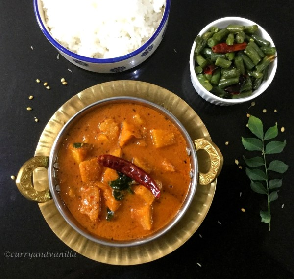 Spicy and Tangy Pineapple Menaskayi/Gojju | Vegan Pineapple Coconut Curry
