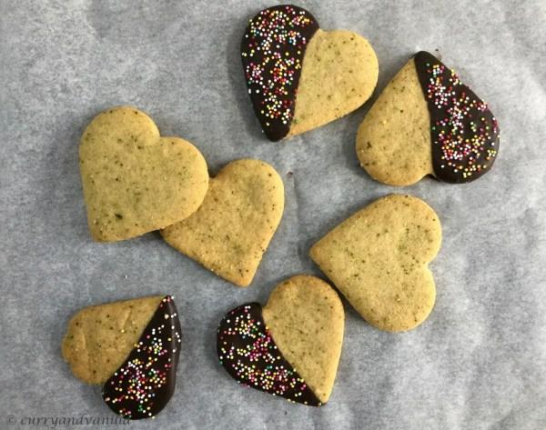 Cinnamon and Cardamom Green Tea Shortbread/Cookies