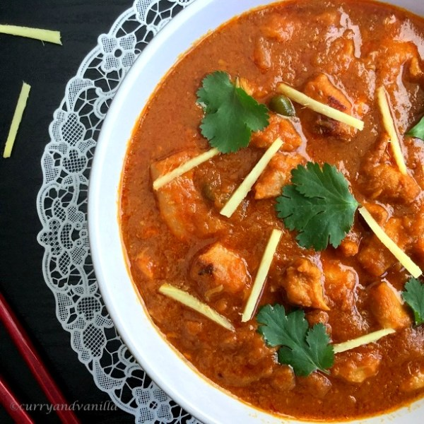 Pressure Cooker Ginger Chicken Curry And Vanilla