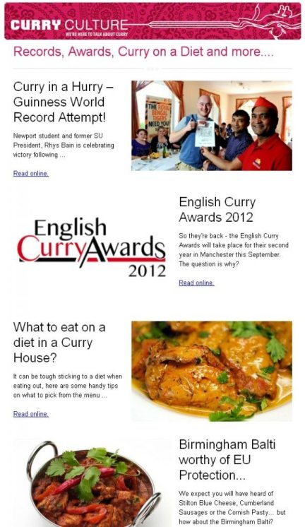 Curry Culture Newsletter