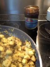 Tamarinde aubergine curry kruiden oosters indiaas