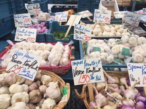 Aziatische groenten knoflook