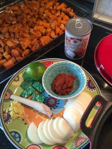 Pompoensoep met Thaise rode currypasta