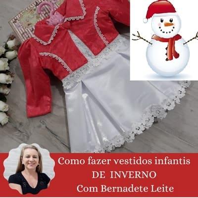 Como fazer vestidos infantis de Inverno Com Bernadete Leite (2)