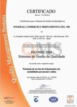 Atestados e Certificações Engehall 3