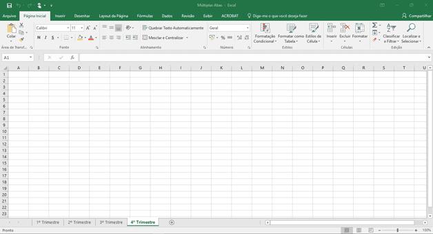 Abas renomeadas no Excel