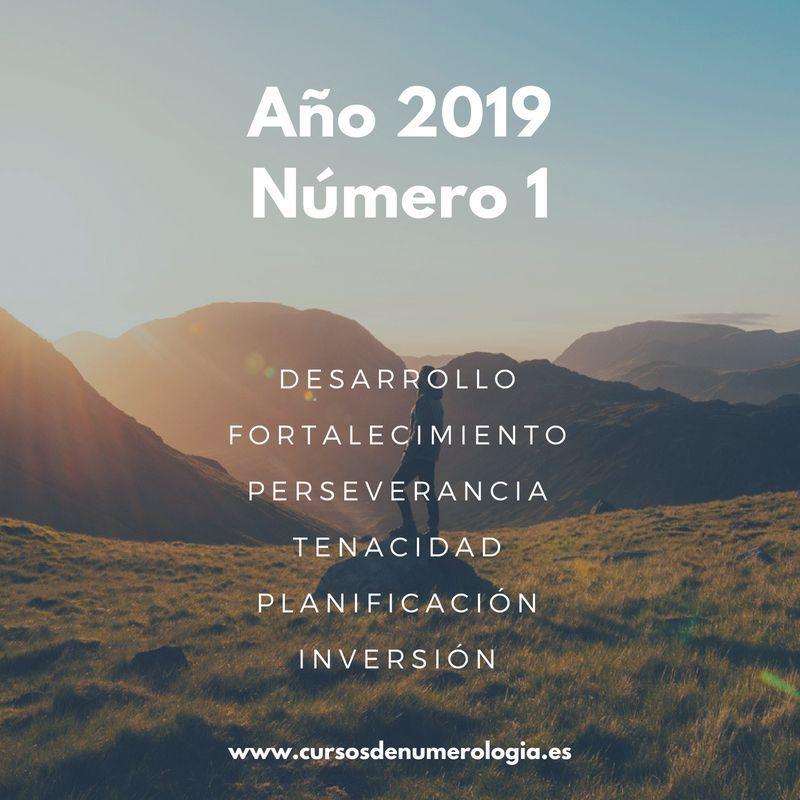 año numerológico 2019 número 1