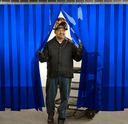 Blue Welding Strip Curtains Akon Curtain And Dividers