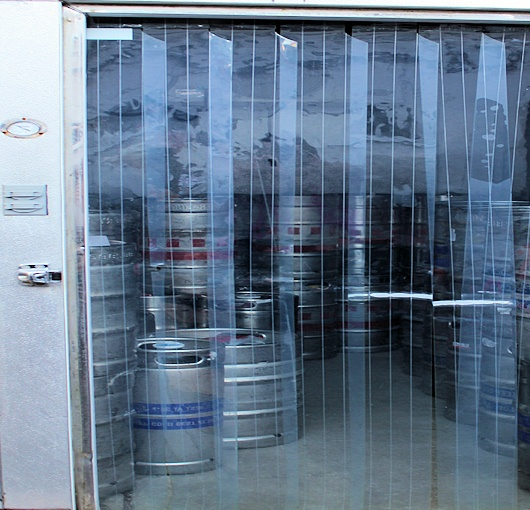 freezer and cooler strip curtains